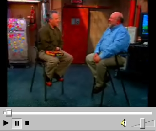 Leo LaPorte (L) with Al Lowe